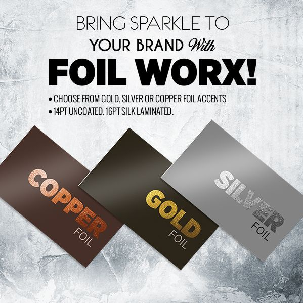 Copper, Gold, Silver, Foil, Business, Cards, Uncoated, Laminated, 14pt