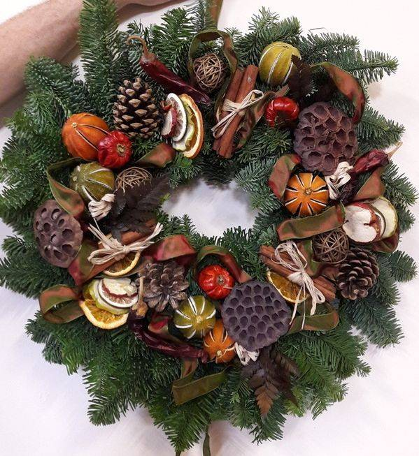 Christmas wreath workshops at the manor barn