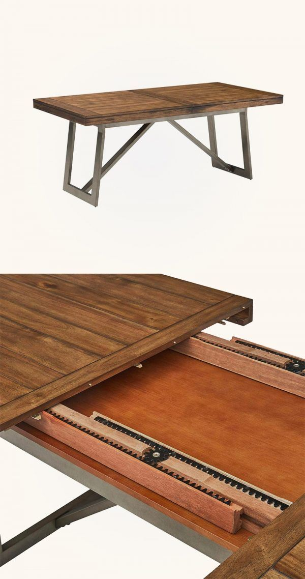 wooden dining extend table