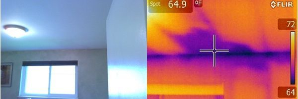 Infrared Scan reveals active water leak