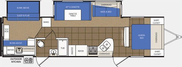 Our Kelowna RV Rental Layout.