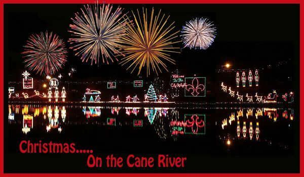 Christmas, Natchitoches, festivals, cane river, fireworks, lights, decorations