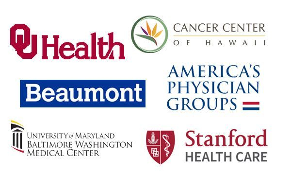 Collage of healthcare business logos