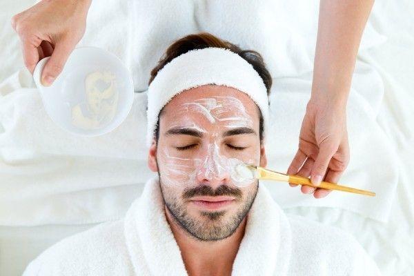 Man enjoying facial for men at Facial Studio Brighton