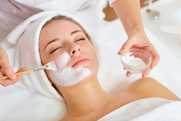 Woman enjoying Ladies pampering package at Facial Studio Brighton
