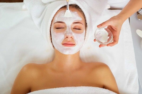 Lady enjoying facial for women at Facial Studio Brighton