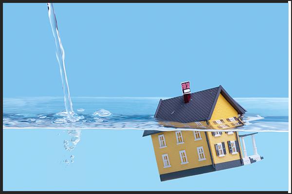 Housing floating in water