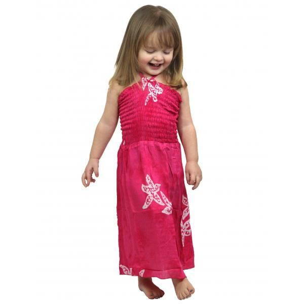 #912 Hot Pink Star Fish Size S- L Dress