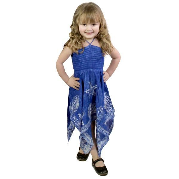 #4683 Blue Child Size S-L Dress