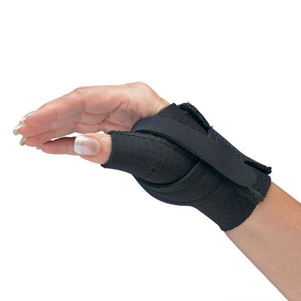 CMC Brace supports thumb joint while allowing use of hand.
