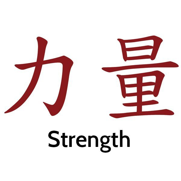 image of Chinese calligraphy symbol for strength
