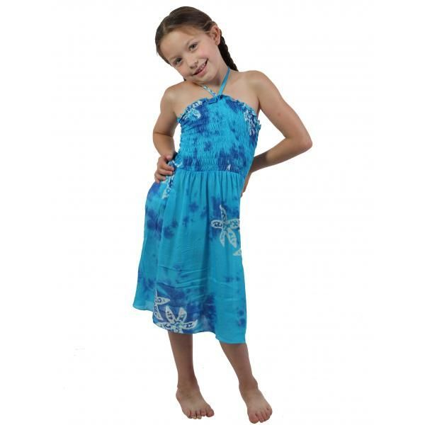 #912 Turquoise child Size S-L Dress