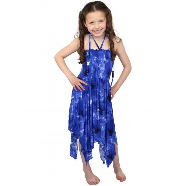 #820 Blue Child Size S- L Dress