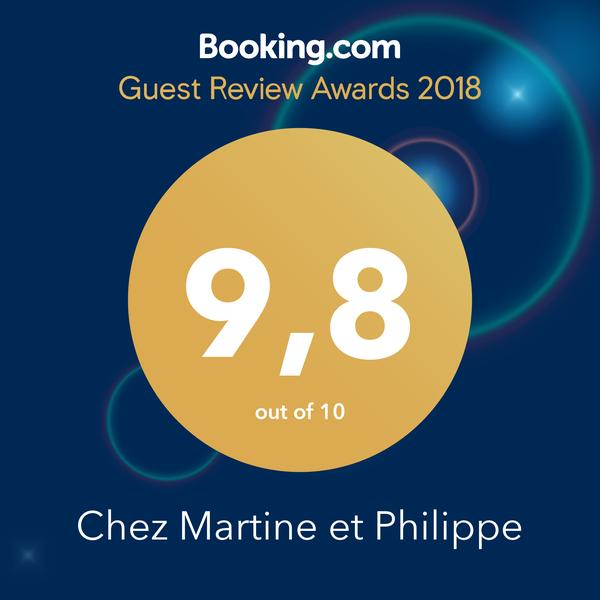 Booking.com Expedia Trip Advisor Guest Awards Chez Martine et Philippe 43 Auvergne Haute Loire