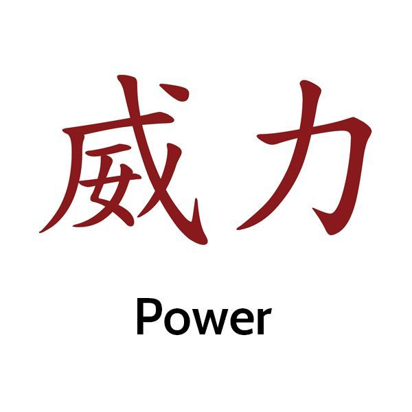 image of Chinese calligraphy symbol for power