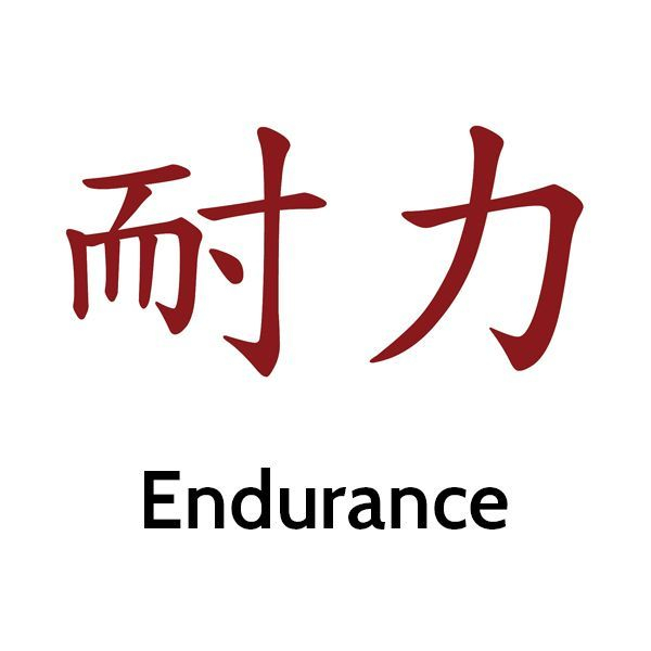 image of Chinese calligraphy symbol for endurance