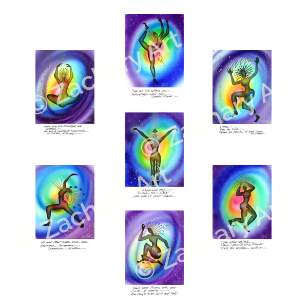Chakra Art, Yoga Art, Sacred Image Prints