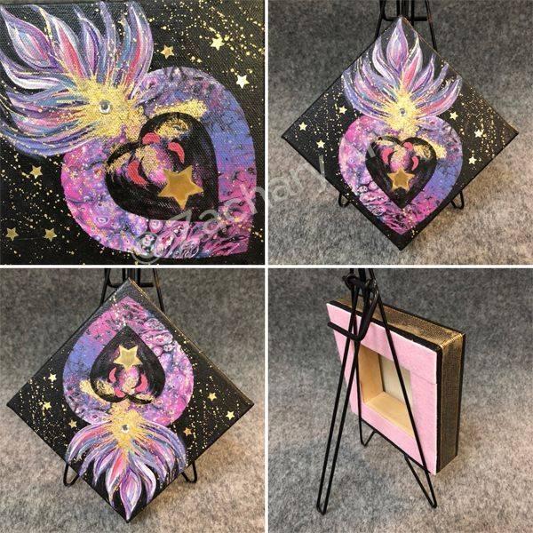 Acrylic on Canvas 6x6x1 - ZacharyArt.com