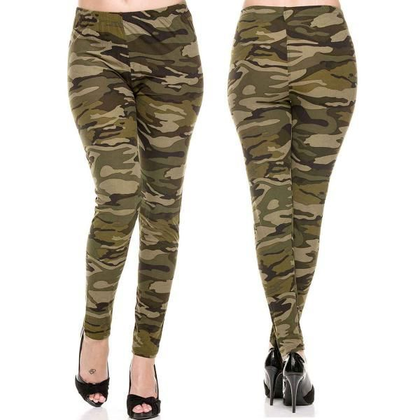 F-240  Green Camouflage Leggings