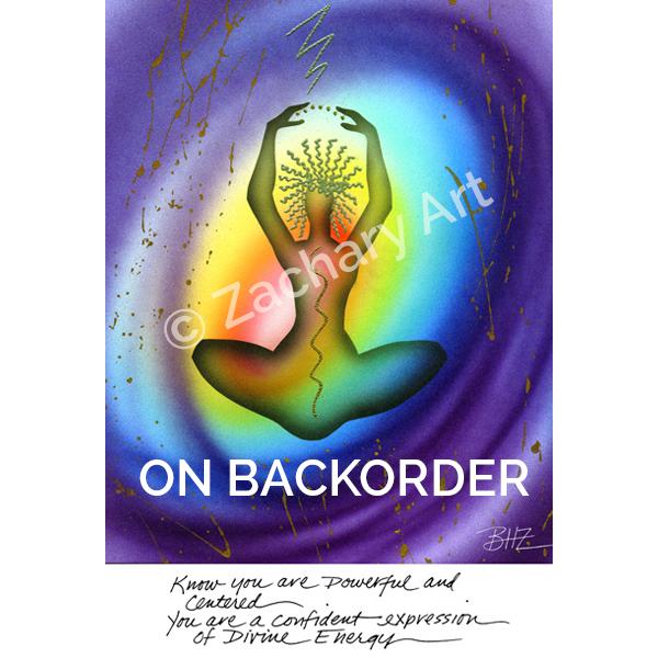 Chakra Art Card, Yoga Art, Sacred Image Art