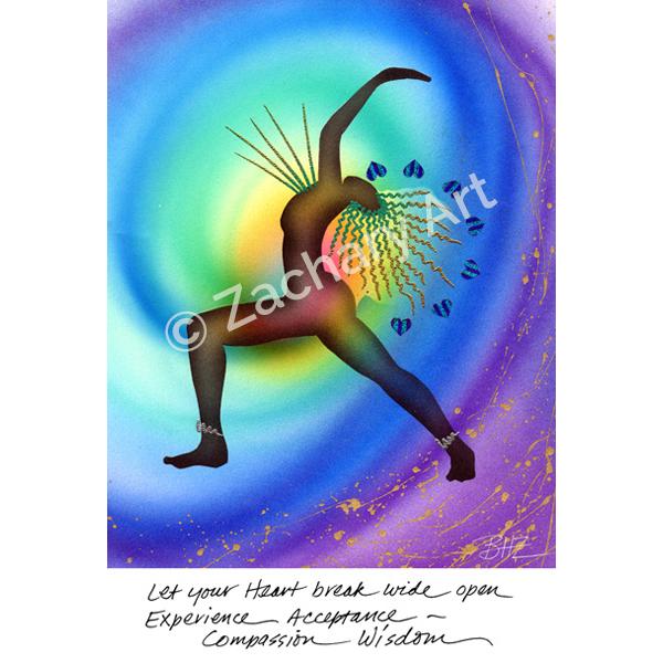 Chakra Art, Yoga Art Cards, Sacred Image