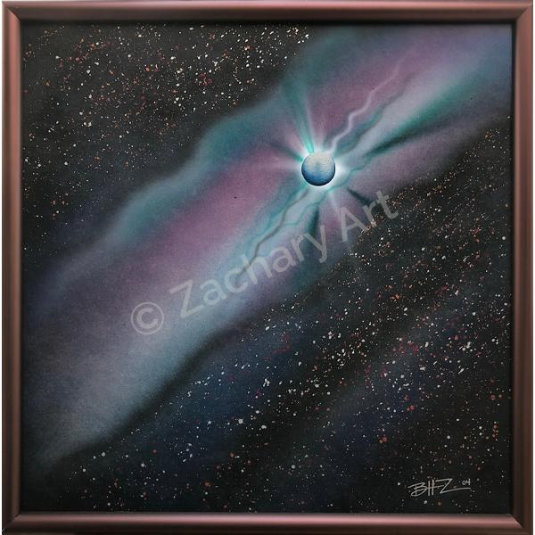 Framed 24x24 Acrylic on Masonite ZacharyArt.com