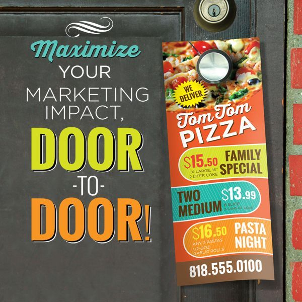 Advertise, Custom, Printed, Door, Hanger, Die-Cut, 1-Sided, 2-Sided