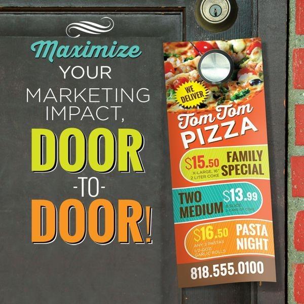 Advertise, Custom, Printed, Door, Hanger, Die-Cut, 1-Sided, 2-Sided
