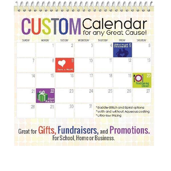 Calendar Printing, Custom, Printed, Bound, Hanging