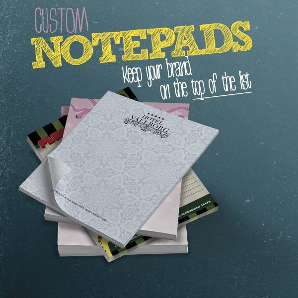 Notes, Notepads, Printing, Glued, Backed