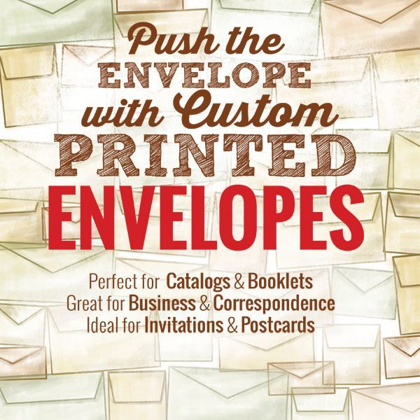 Custom, Envelope, Printing, Spot, Color, B&W, Business, No 10, Catalog, No 9