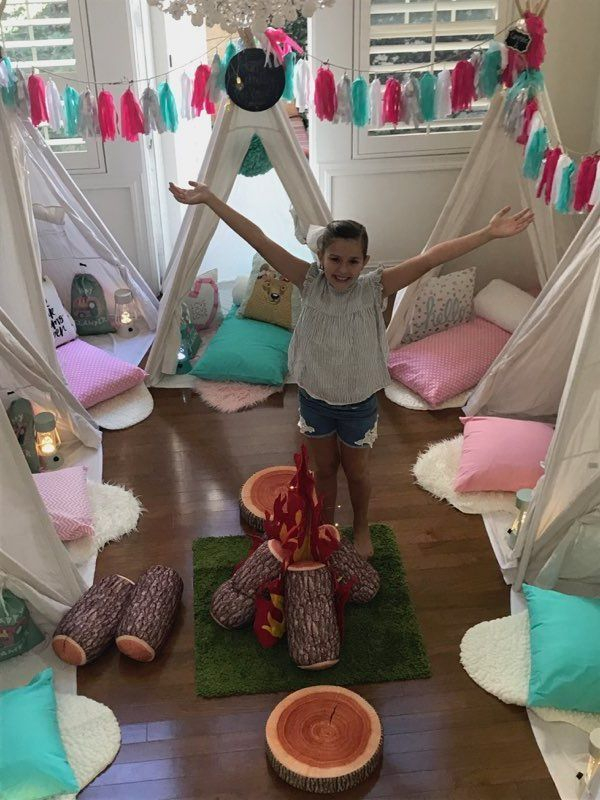 Teepee, indoor, campsite, campsites, birthday, party, parties, fun, adventure, new, Happy Campers, Happy Glampers, Newport Beach, CA, Orange County