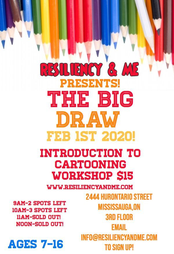 art class, cartooning ,art therapy Mississauga