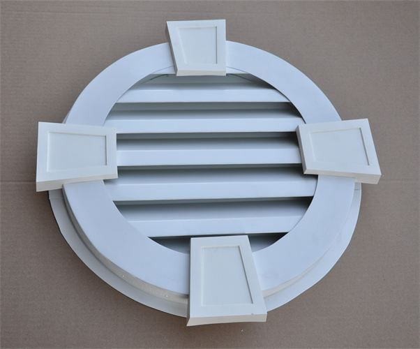 Round Aluminum gable vent with keystone