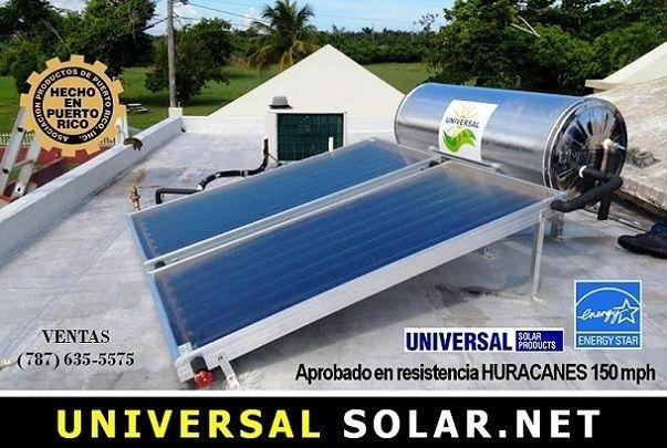 Calentadores solares para viviendas y comercios en Puerto Rico.