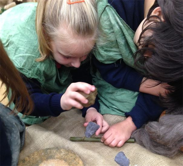 Stone age workshop for primary schools with craft activities ks2
