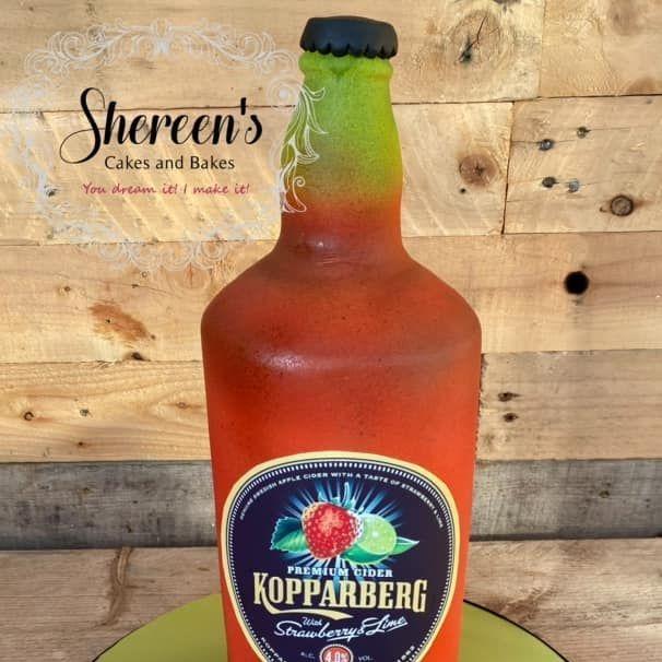 Birthday Cake 18th koppaberg bottle pizza slice cider