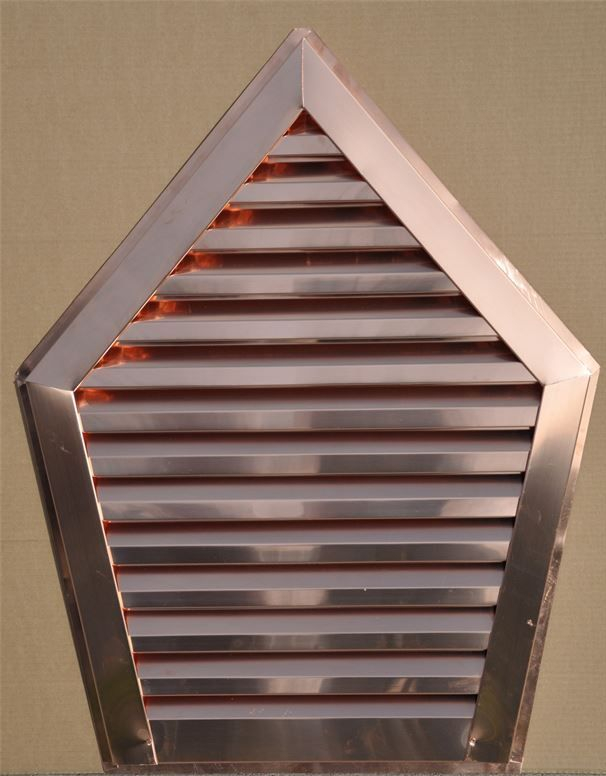 Custom Shaped Copper Gable  Louver