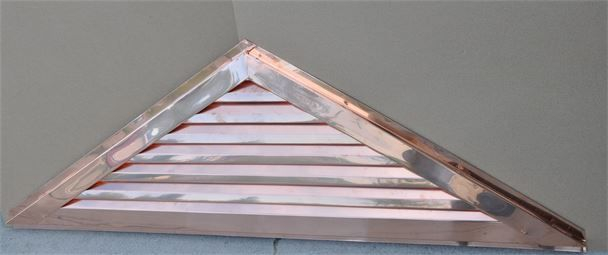 Copper triangle gable louver vent