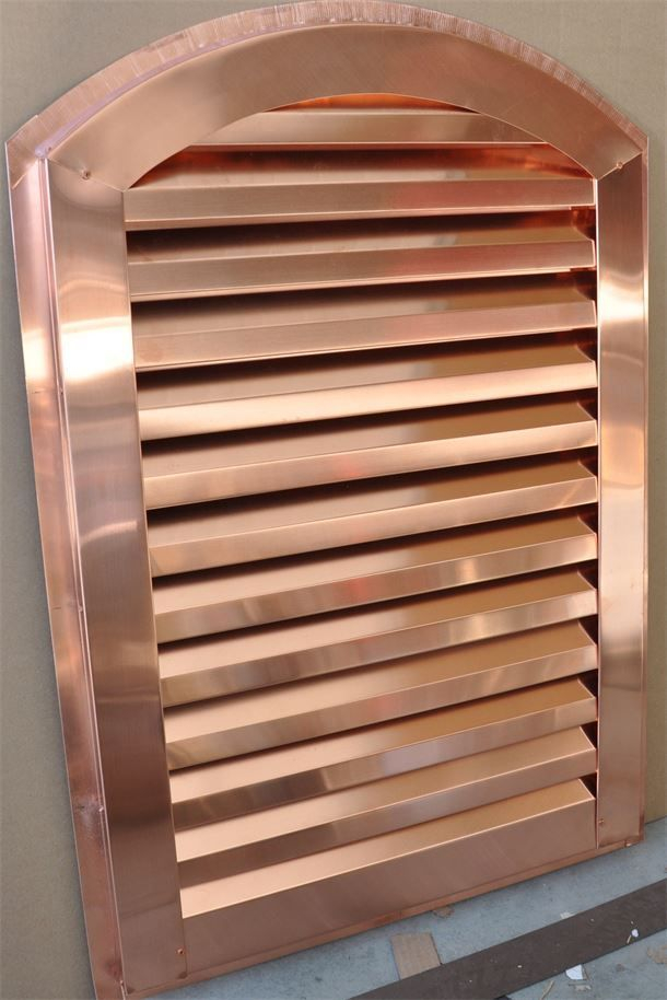 Copper Arch Top Gable  End Vent