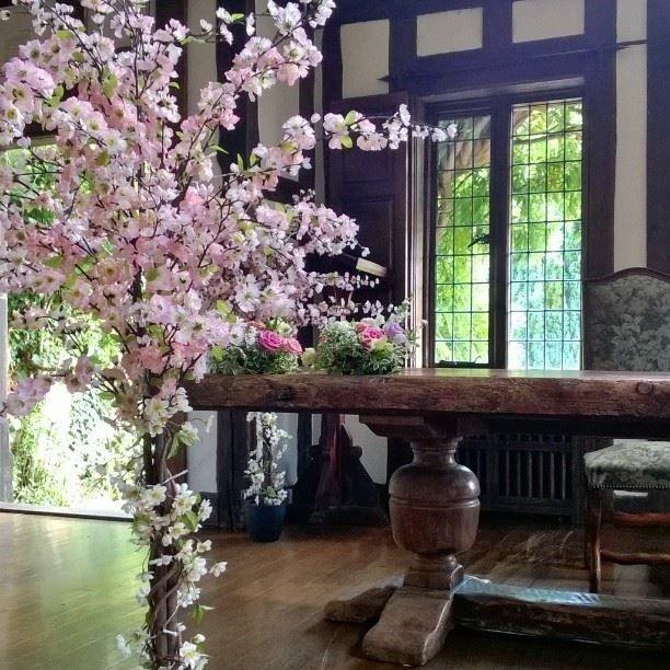 Blossom Tree Prop Hire Wedding Reception Ceremony Room Flowers Suffolk Weddings Florist Susan Jane May