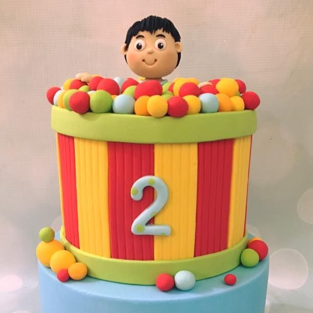 Bright Ball Pit Birthday Cake Novelty