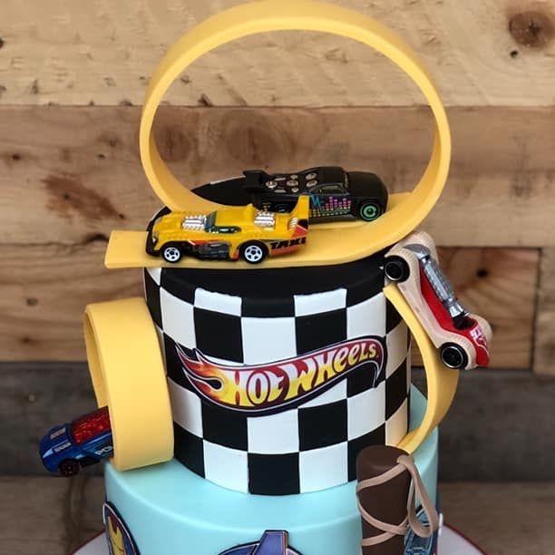 birthday cake hotwheels hot wheel loop racing avengers thor hammer