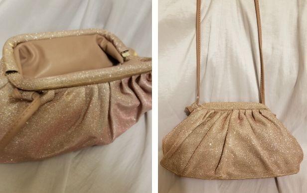 Pink Glitzy Crossbody Handbag