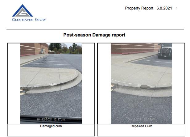 Glenhaven Snow Company Post-season Damage Report