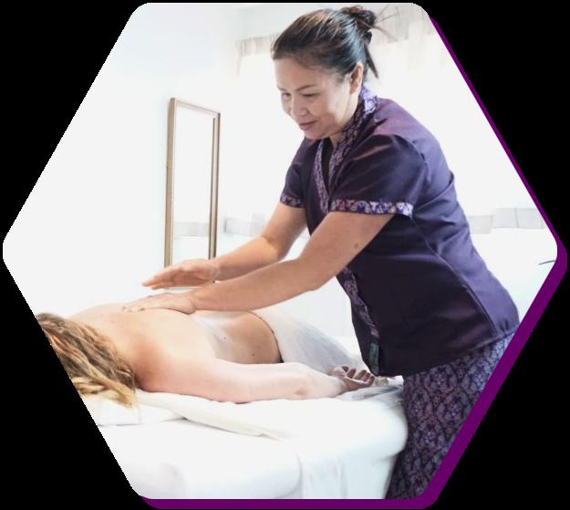 Head Back Neck Shoulder Foot Reflexology Massage Mon Thai