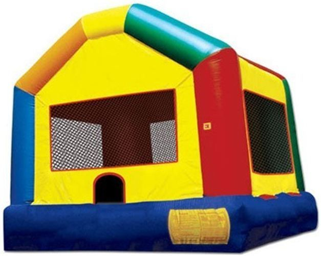 """SVS Themed House Bouncer Size: 16'W x 19""""L x 15'H Contact us for more details at (415) 787-2424."""