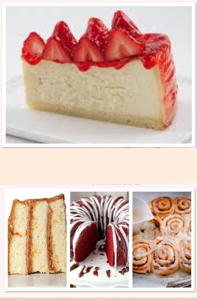 Cheesecake, Cakes, Pies, Pudding, Butter Rolls