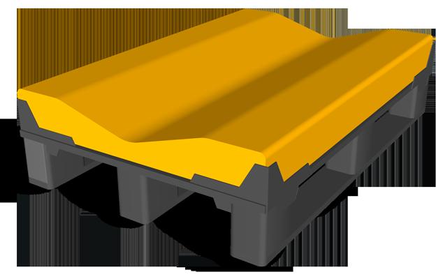 Kombi-Palette mit wechselbarer Auflage