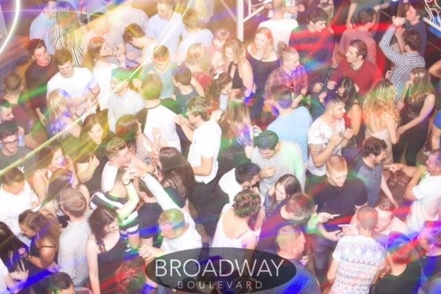 Dance floor at Broadway Boulevard Nightclub for a guest night as DJ